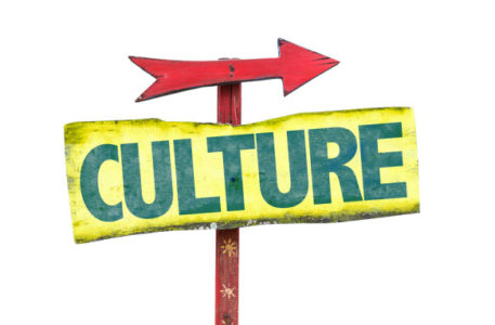 Culture sign isolated on white